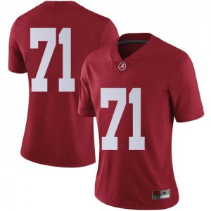 Women Alabama Crimson Tide Darrian Dalcourt #71 College Crimson Limited Football Jersey 211749-120