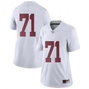 Women Alabama Crimson Tide Darrian Dalcourt #71 College White Limited Football Jersey 710041-276
