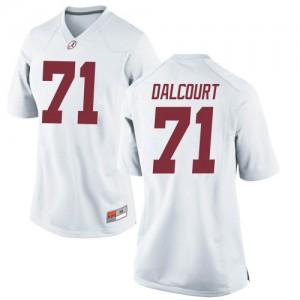 Women Alabama Crimson Tide Darrian Dalcourt #71 College White Replica Football Jersey 239978-722