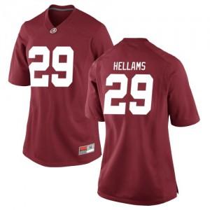 Women Alabama Crimson Tide DeMarcco Hellams #29 College Crimson Game Football Jersey 655242-447