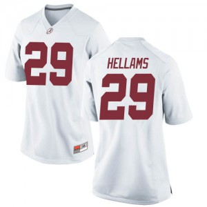 Women Alabama Crimson Tide DeMarcco Hellams #29 College White Game Football Jersey 166770-724