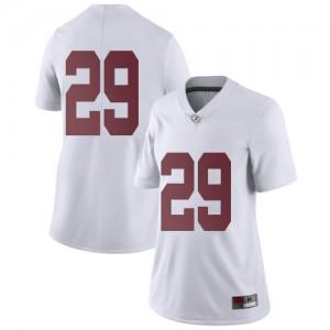 Women Alabama Crimson Tide DeMarcco Hellams #29 College White Limited Football Jersey 460080-759