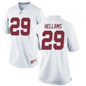 Women Alabama Crimson Tide DeMarcco Hellams #29 College White Replica Football Jersey 415704-122