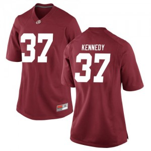 Women Alabama Crimson Tide Demouy Kennedy #37 College Crimson Replica Football Jersey 826043-472
