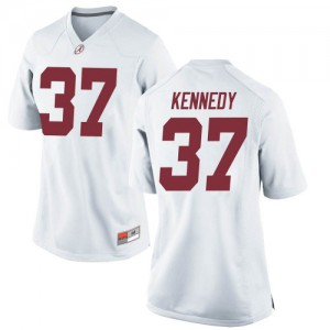 Women Alabama Crimson Tide Demouy Kennedy #37 College White Replica Football Jersey 509404-709