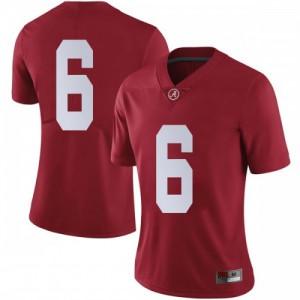 Women Alabama Crimson Tide Devonta Smith #6 College Crimson Limited Football Jersey 477752-907