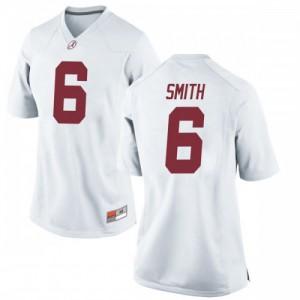 Women Alabama Crimson Tide Devonta Smith #6 College White Replica Football Jersey 185269-226