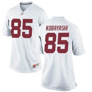 Women Alabama Crimson Tide Drew Kobayashi #85 College White Game Football Jersey 266606-602