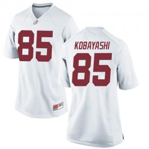 Women Alabama Crimson Tide Drew Kobayashi #85 College White Replica Football Jersey 516191-495