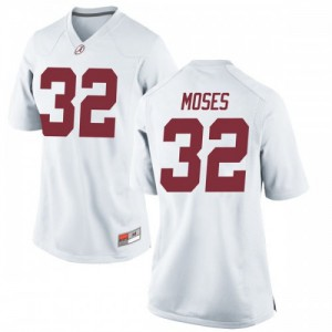 Women Alabama Crimson Tide Dylan Moses #32 College White Game Football Jersey 598986-436