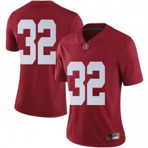 Women Alabama Crimson Tide Dylan Moses #32 College Crimson Limited Football Jersey 863447-794