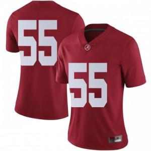 Women Alabama Crimson Tide Emil Ekiyor Jr. #55 College Crimson Limited Football Jersey 607279-927