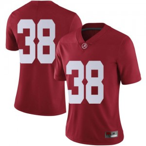 Women Alabama Crimson Tide Eric Poellnitz #38 College Crimson Limited Football Jersey 508630-739