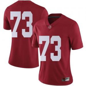 Women Alabama Crimson Tide Evan Neal #73 College Crimson Limited Football Jersey 647303-496