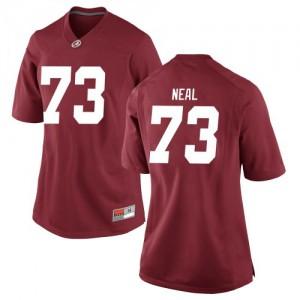 Women Alabama Crimson Tide Evan Neal #73 College Crimson Replica Football Jersey 253801-437