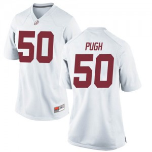 Women Alabama Crimson Tide Gabe Pugh #50 College White Replica Football Jersey 508435-615
