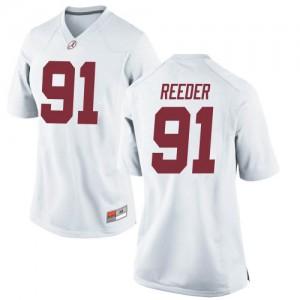 Women Alabama Crimson Tide Gavin Reeder #91 College White Game Football Jersey 597336-681