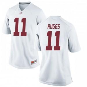 Women Alabama Crimson Tide Henry Ruggs III #11 College White Replica Football Jersey 411731-806