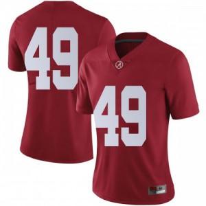 Women Alabama Crimson Tide Isaiah Buggs #49 College Crimson Limited Football Jersey 479463-210