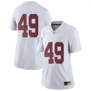 Women Alabama Crimson Tide Isaiah Buggs #49 College White Limited Football Jersey 785863-909