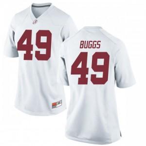 Women Alabama Crimson Tide Isaiah Buggs #49 College White Replica Football Jersey 712556-148
