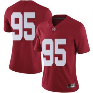 Women Alabama Crimson Tide Jack Martin #95 College Crimson Limited Football Jersey 961305-619