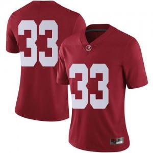 Women Alabama Crimson Tide Jackson Bratton #33 College Crimson Limited Football Jersey 156743-827