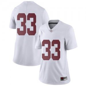 Women Alabama Crimson Tide Jackson Bratton #33 College White Limited Football Jersey 118302-306