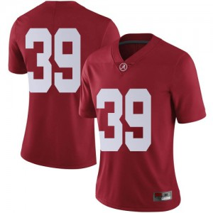 Women Alabama Crimson Tide Jahi Brown #39 College Brown Limited Crimson Football Jersey 710276-974