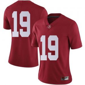 Women Alabama Crimson Tide Jahleel Billingsley #19 College Crimson Limited Football Jersey 408896-697