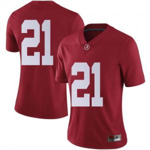 Women Alabama Crimson Tide Jahquez Robinson #21 College Crimson Limited Football Jersey 474702-323