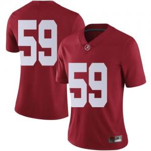 Women Alabama Crimson Tide Jake Hall #59 College Crimson Limited Football Jersey 472324-988
