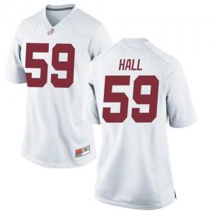 Women Alabama Crimson Tide Jake Hall #59 College White Replica Football Jersey 944197-138