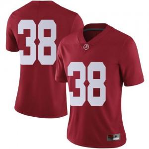 Women Alabama Crimson Tide Jalen Edwards #38 College Crimson Limited Football Jersey 589029-772