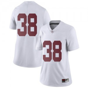 Women Alabama Crimson Tide Jalen Edwards #38 College White Limited Football Jersey 532924-812