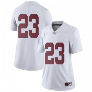 Women Alabama Crimson Tide Jarez Parks #23 College White Limited Football Jersey 695150-618