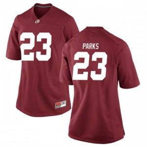 Women Alabama Crimson Tide Jarez Parks #23 College Crimson Replica Football Jersey 790127-914