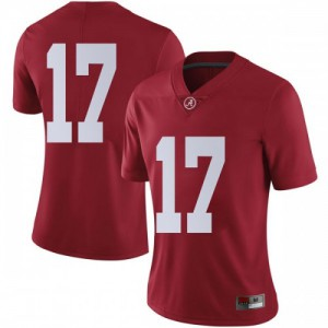 Women Alabama Crimson Tide Jaylen Waddle #17 College Crimson Limited Football Jersey 448021-367