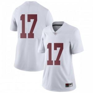 Women Alabama Crimson Tide Jaylen Waddle #17 College White Limited Football Jersey 166594-829