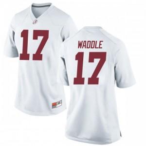 Women Alabama Crimson Tide Jaylen Waddle #17 College White Replica Football Jersey 308651-739