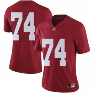 Women Alabama Crimson Tide Jedrick Wills Jr. #74 College Crimson Limited Football Jersey 442339-935