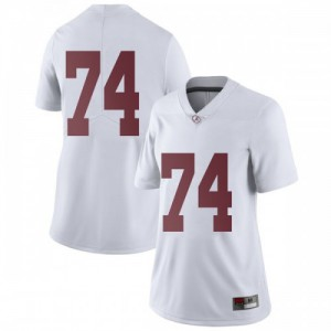 Women Alabama Crimson Tide Jedrick Wills Jr. #74 College White Limited Football Jersey 793711-442