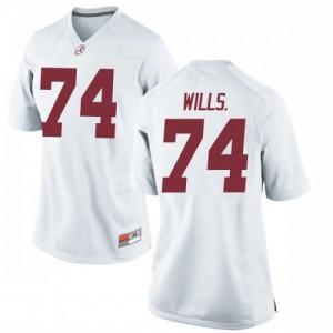 Women Alabama Crimson Tide Jedrick Wills Jr. #74 College White Replica Football Jersey 710270-173