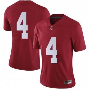 Women Alabama Crimson Tide Jerry Jeudy #4 College Crimson Limited Football Jersey 855098-551
