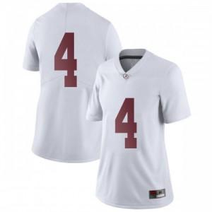Women Alabama Crimson Tide Jerry Jeudy #4 College White Limited Football Jersey 496382-794