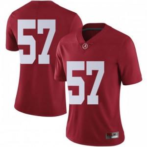 Women Alabama Crimson Tide Joe Donald #57 College Crimson Limited Football Jersey 288373-440