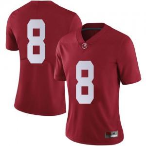 Women Alabama Crimson Tide John Metchie III #8 College Crimson Limited Football Jersey 372494-862
