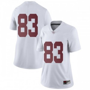 Women Alabama Crimson Tide John Parker #83 College White Limited Football Jersey 207115-525