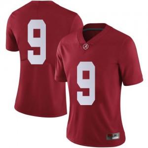 Women Alabama Crimson Tide Jordan Battle #9 College Crimson Limited Football Jersey 754905-858