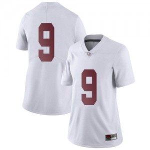 Women Alabama Crimson Tide Jordan Battle #9 College White Limited Football Jersey 591737-846